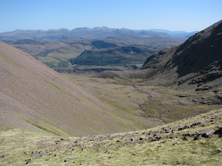 Looking back down Glas Tholl