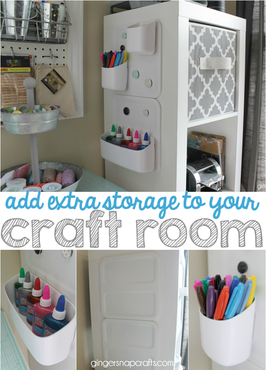 add extra storage to your craft room #crafts   #organization