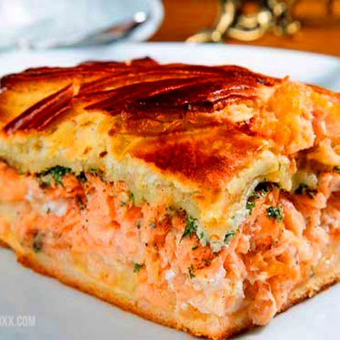 Pie With Salmon In A Hurry (when You Haven't Time)