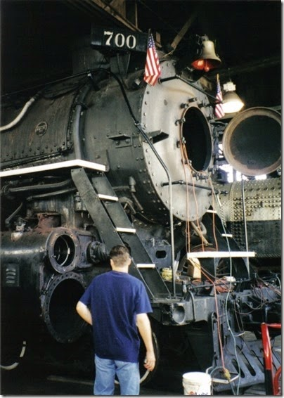 08 Spokane, Portland & Seattle A-1 Class 4-8-4 #700 at the Brooklyn Roundhouse in Portland, Oregon on August 25, 2002