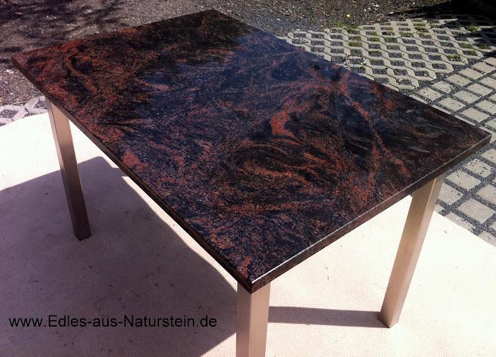 Esstisch wohnzimmertisch gartentisch terrassentisch for Wohnzimmertisch granit