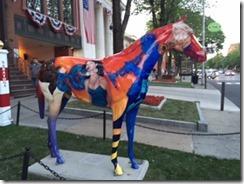 Saratoga colored horse