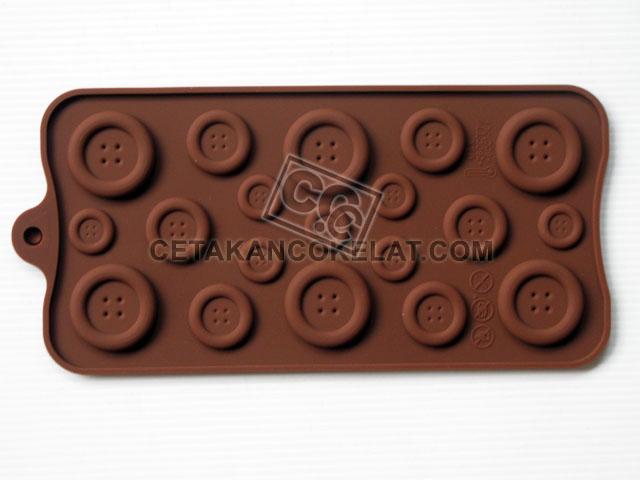 cetakan coklat cokelat silikon SIL047 SIL47 Kancing