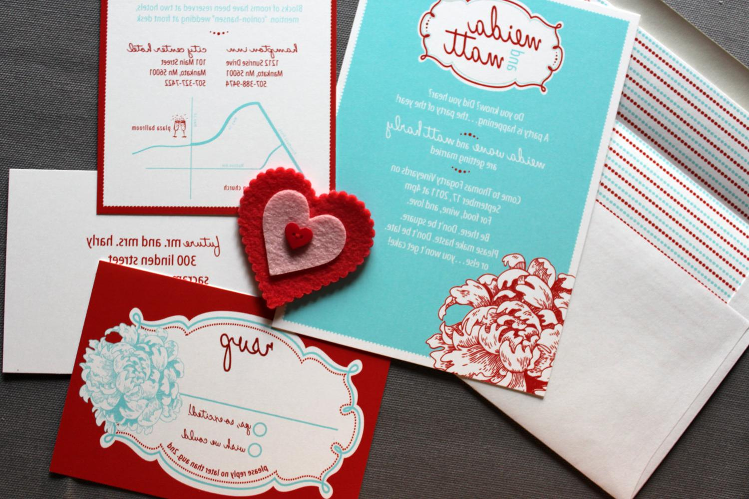 Retro Love Wedding invitations