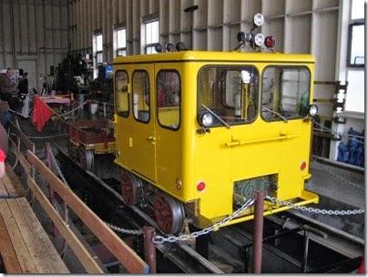 IMG_0528 Speeder in the Willamette Shore Trolley Carbarn in Lake Oswego, Oregon on April 26, 2008