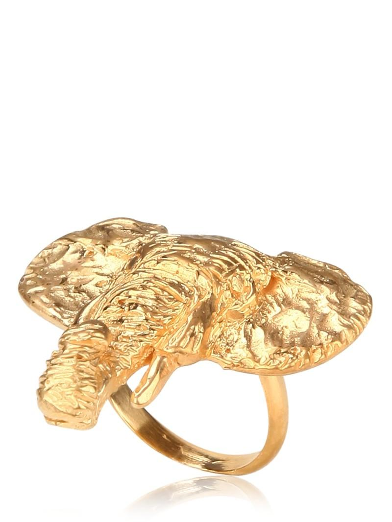 Yellow Gold Elephant Ring