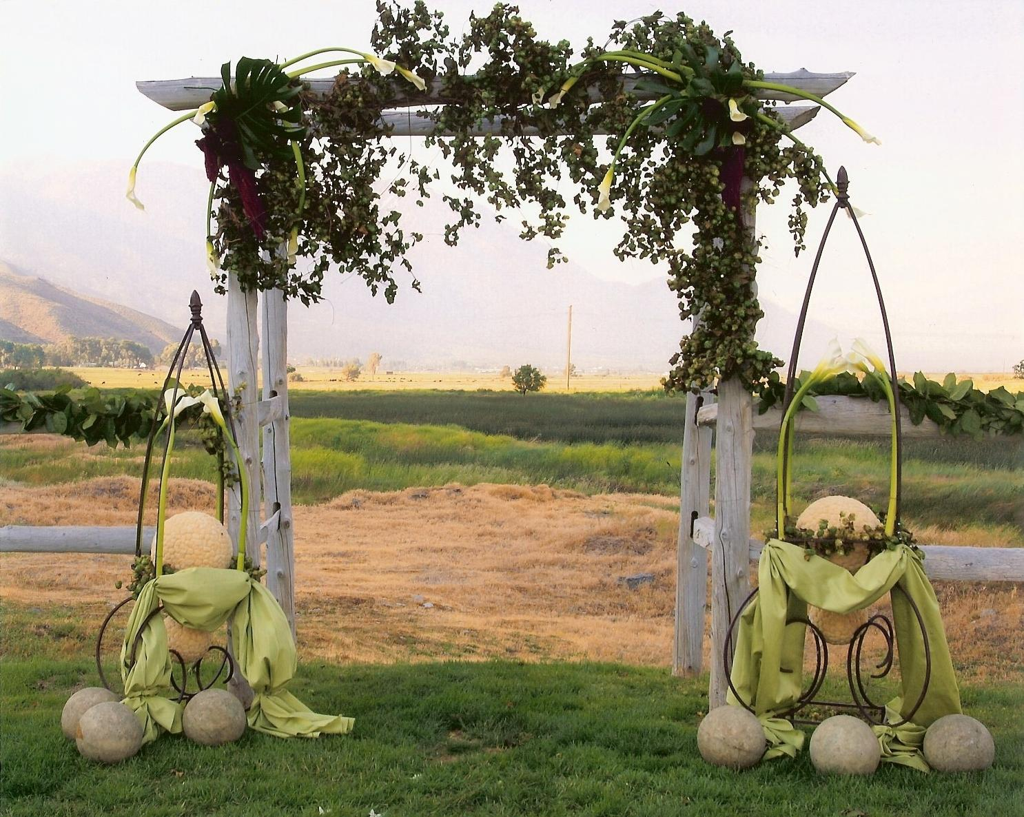 wedding design using arch