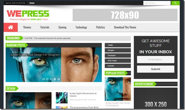 WePress-responsive-blogger-teması