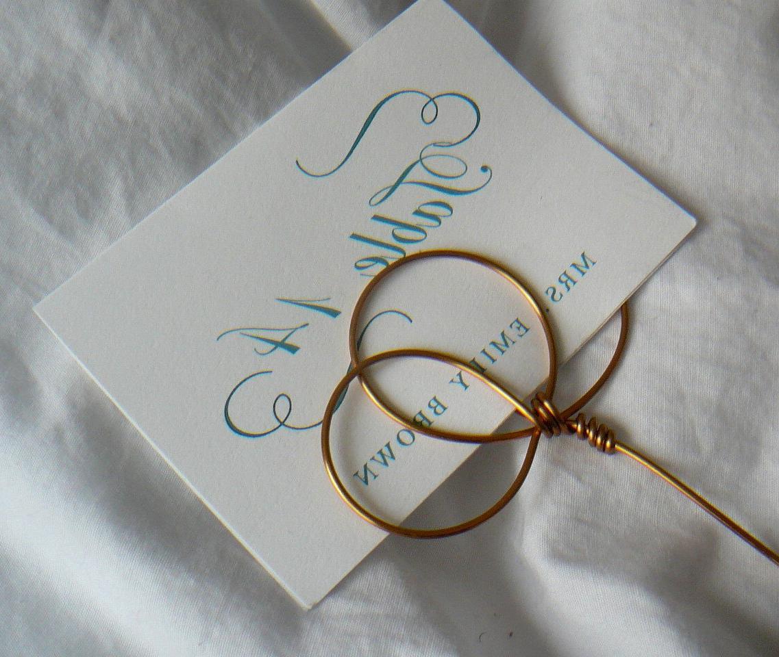 Wedding Reception Sign Holder Picks, 25, Long Stem, 10 Inches