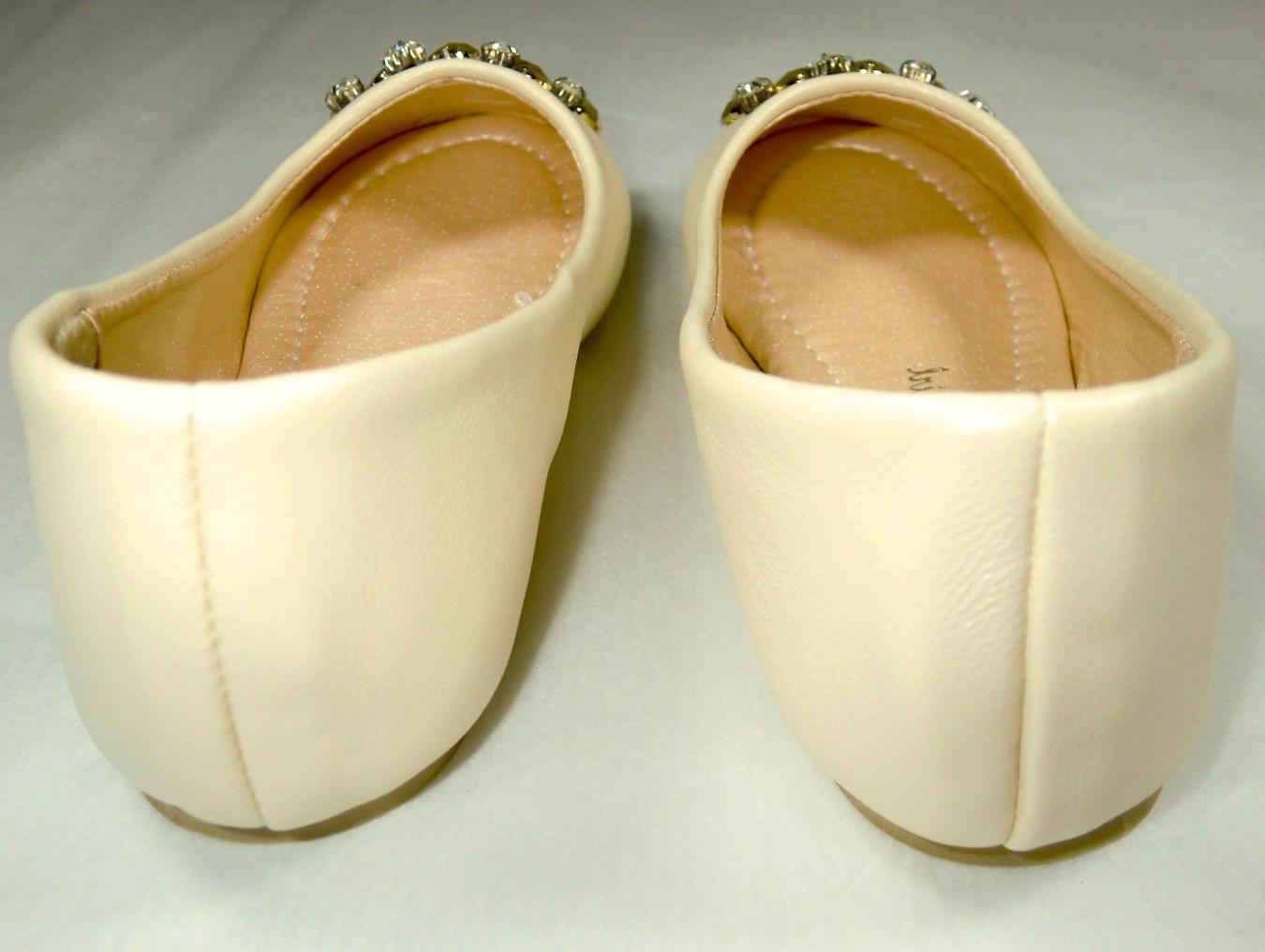 Miss Pearl Cream Ballet Flat Shoes - Wedding Bridal - Collections