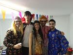 Los Scouters durante la fiesta