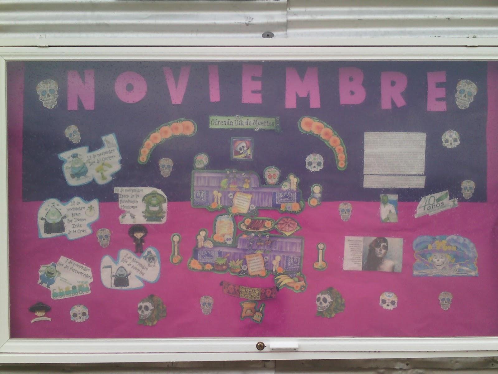 Seccional sur peri dico mural mes de noviembre for Editorial periodico mural
