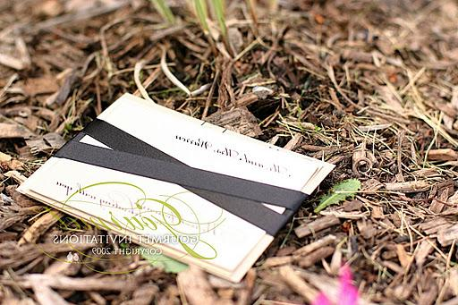 Her colors are also classic in black and champagne gold. The RSVP cards are