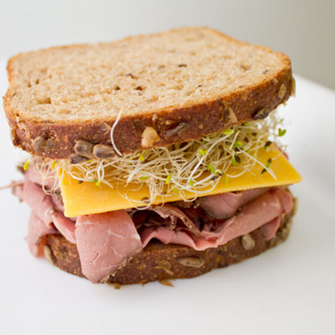Roast Beef and Cheddar Sandwich