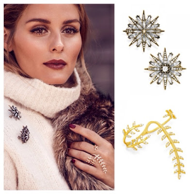Olivia Palermo Jewelry Collection for BaubleBar North Star Brooch Set and Peacemaker Ring