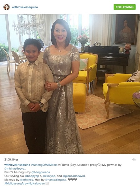 Paul-Celestine wedding - Kris Aquino and Bimby