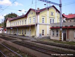V Tršnici je vlakové nádraží na na trati Karlovy Vary-Cheb.