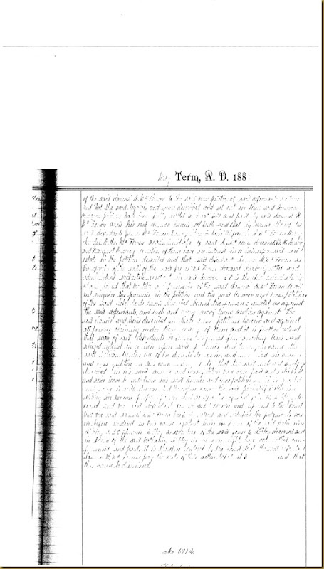 T.E. Irvins filed petition Charles B. Monroe 1885 3