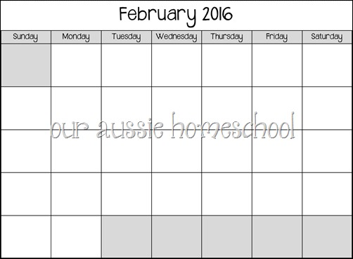 Calendars for 2016 ~ Our Aussie Homeschool