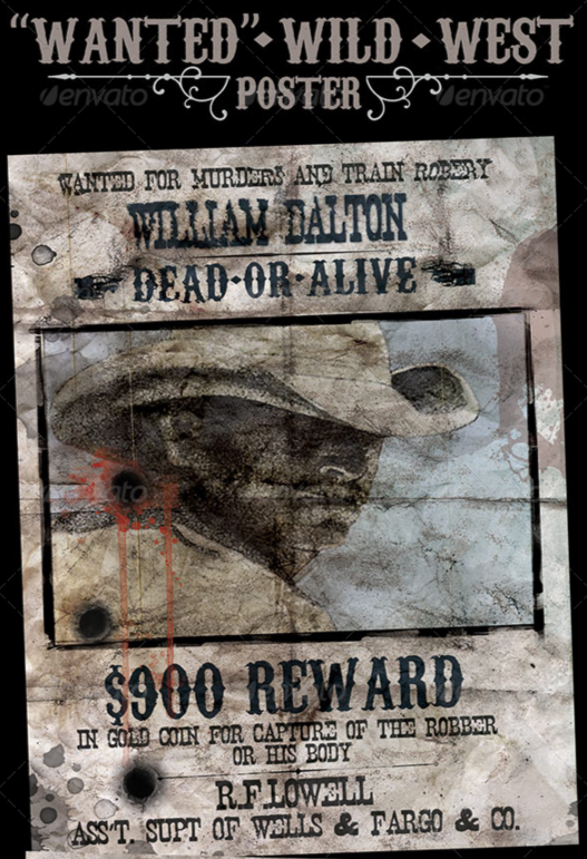 Free old fashioned wanted poster template