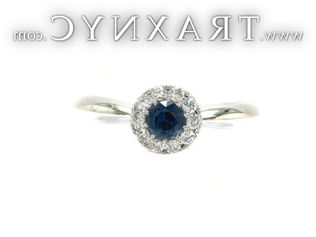 Full Size Picture for Blue Color Sapphire Diamond Ring