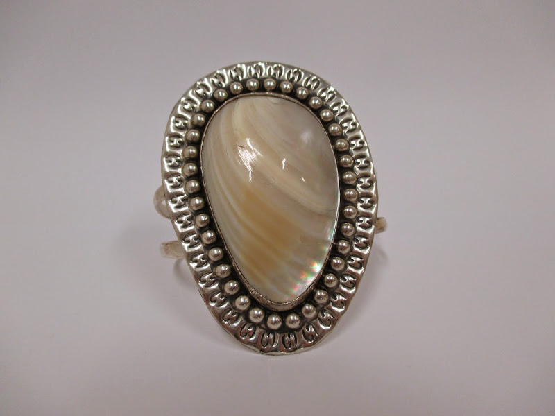Sterling and Mother-of-Pearl Cuff
