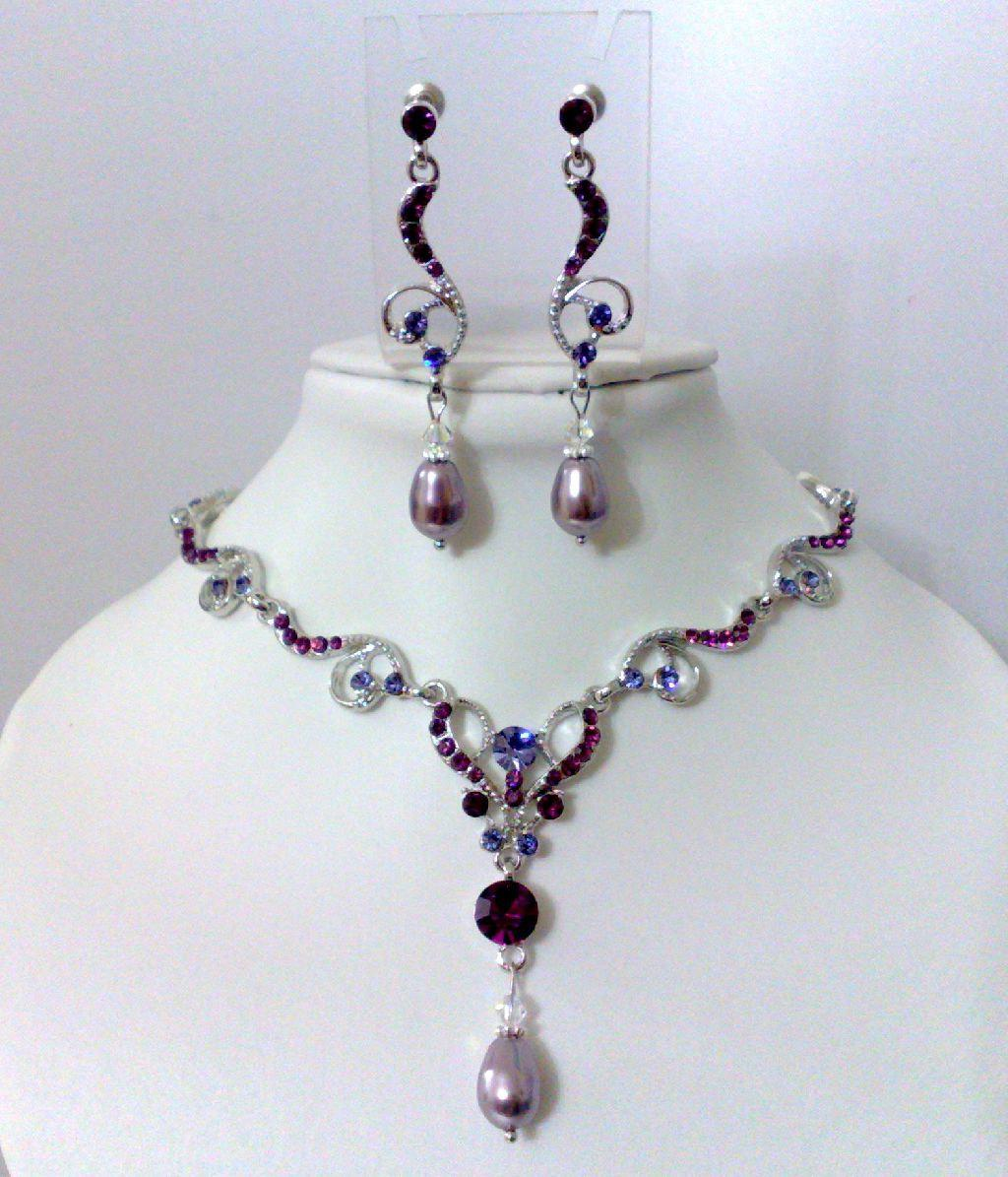 Purple Wedding, Bridal Jewelry
