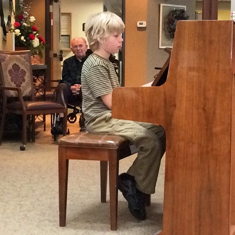 Dan at piano recital