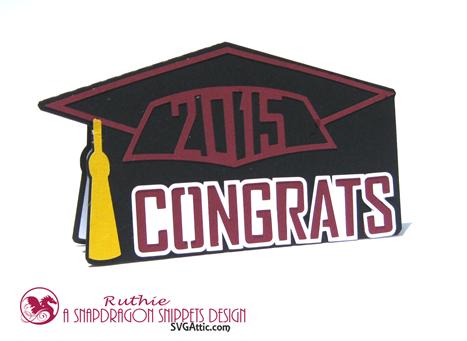 Graduation Cap Card - SnapDragon Snippets - Ruthie Lopez - Graduacion
