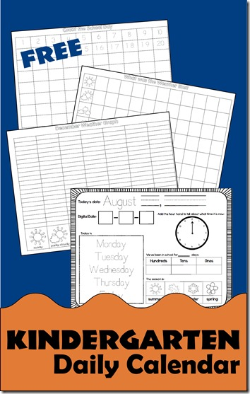 Kindergarten Calendar Notebook : Free kindergarten daily calendar notebook