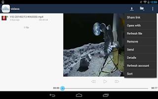 Screenshot of ownCloud