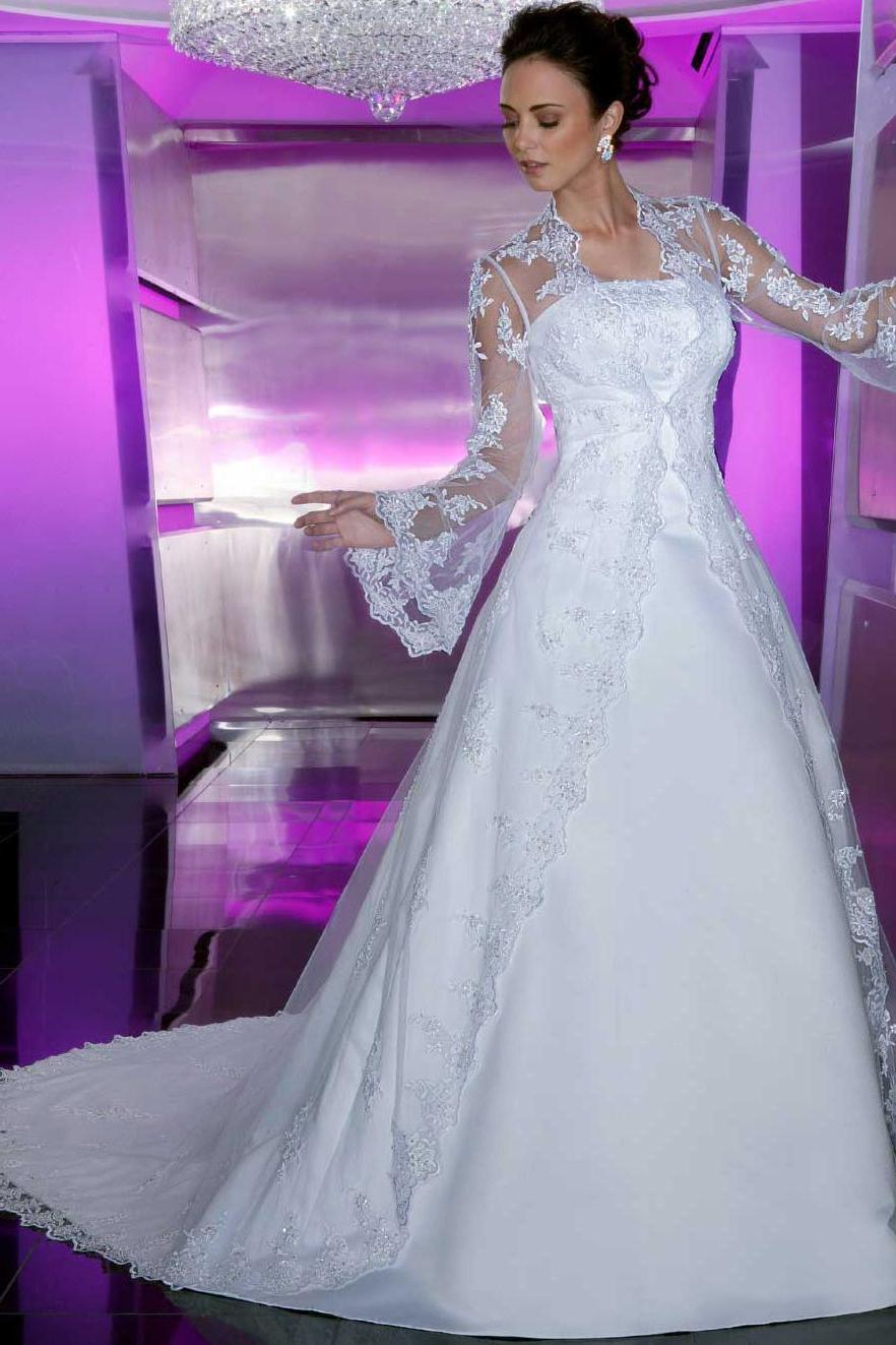 A-line Discount White Lace