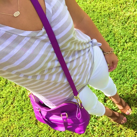 how to wear white after labor day, knotted tee, mom style