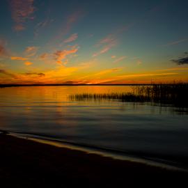 Summer Beach by Nicklas Sjoberg - Landscapes Sunsets & Sunrises ( sundown, summer, down, beach, evening, sun,  )