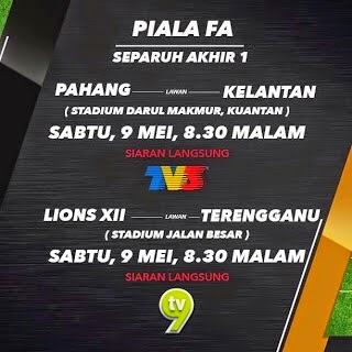 Live Streaming pahang vs Kelantan Separuh ASkhir Pertama Piala Fa