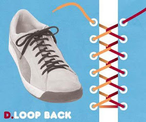 Memasang Tali Sepatu dengan Trik Loop Back