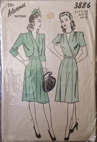 Advance 3886 - vintage 1940's pattern | Lavender & Twill