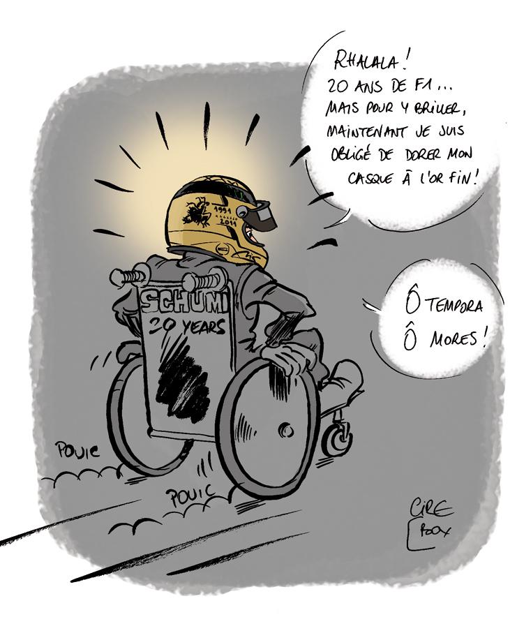 комикс Cirebox о золотом шлеме Михаэля Шумахера на Гран-при Бельгии 2011