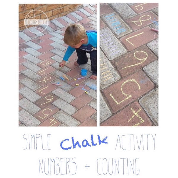 Sideealk and counting Preschool Game