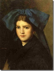 Henner_-_Portrait_of_a_Young_Girl_with_a_Bow_in_Her_Hair