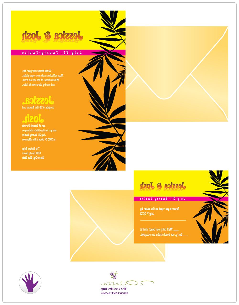 Palms Flat Card   SAMPLE