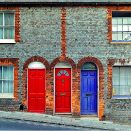 3 and 4 by Michael Germishuys - Buildings & Architecture Other Exteriors ( doors, houses, bricks, windows, town, architecture )