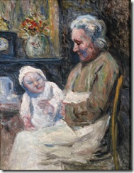 Maximilien-Luce-Grandmother-with-granddaughter