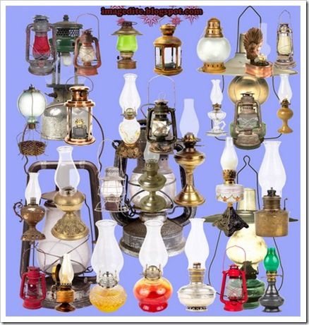Household oil lamp PSD