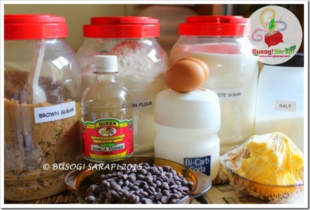 EASY CHOC CHIP COOKIES INGREDIENTS © BUSOG! SARAP! 2015