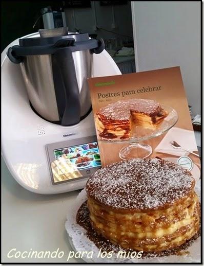 elaboracion tarta milhojas de crema y toffee 00xx