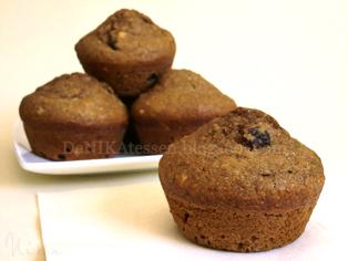 muffins de salvado de trigo y copos de avena