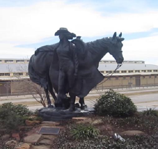 Prairie Princess statue Nat. Cowgirl Museun
