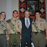 Yorktown Eagle Scout Ceremony (Michael Volpe, Eric Keitz, Kevin Costello)