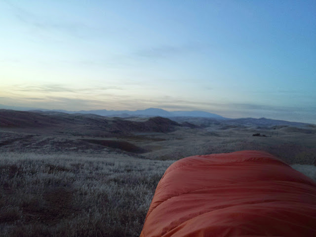After Pine Mountain, the route eventually dropped quickly into a valley and connected with some easy road riding. I continued into the night until around midnight. I camped shortly after crossing into the Carrizo Plain National Monument. This is the scene I woke up to. Not bad.